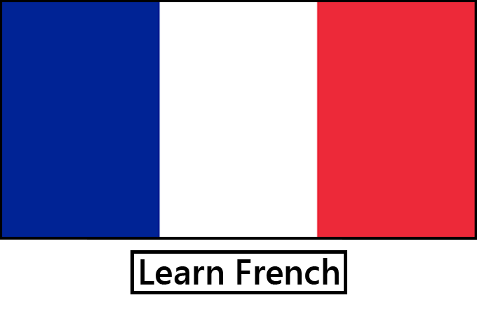 learn a language - french flag
